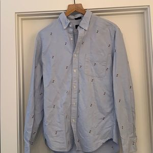 Men's J. Crew long sleeve button down size Med